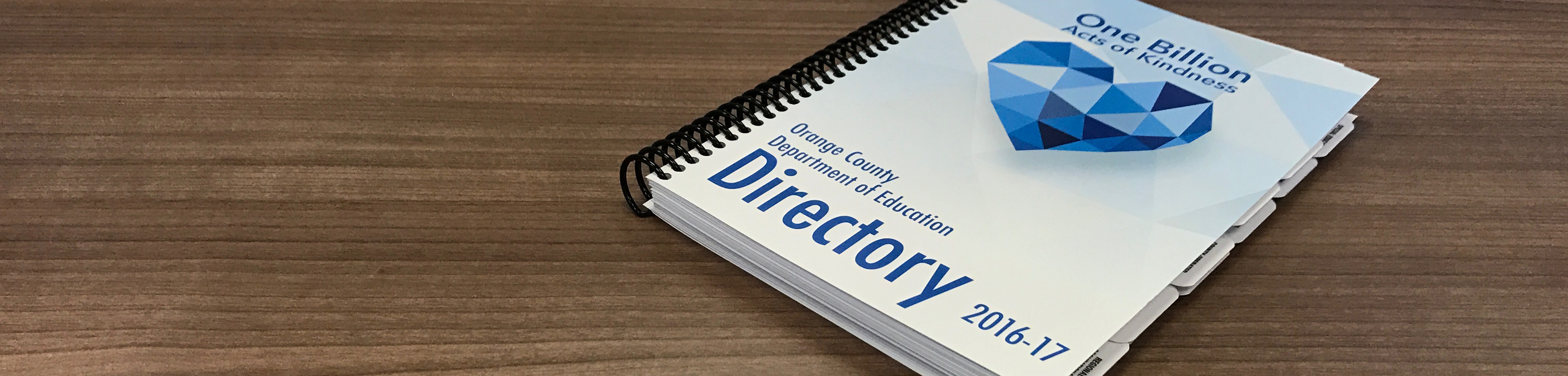 Photo of printed directory