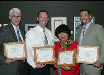 Dr. Cameron M. McCune, Darin Hallstrom, Dr. Julie Chan, and Todd Hoffman