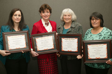 Sherry O'Donnell, Justice Eileen Moore, Sharon Cosca, and Sherri Medrano